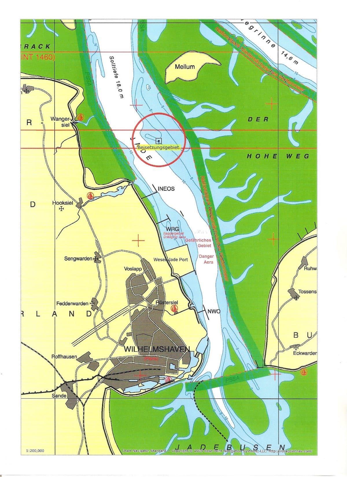 Seekarte Nordsee